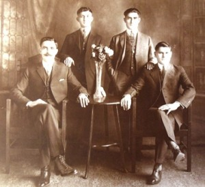 10 George Iskos  second from left with friends in Pocatello, ID, circa 1920