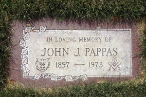 10 John Pappas gravestone, Soap Lake, Washington