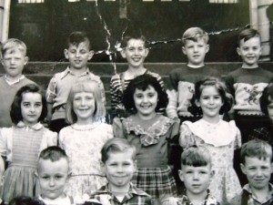 11 Andreanna, center, in first grade, 1949
