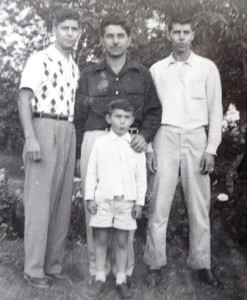 12 Brothers Chris, John and Panos with nephew Jimmy, 1954
