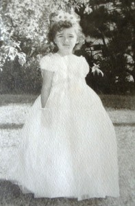 13 Christina as a flower girl at Rita Fenerly's wedding, 1955