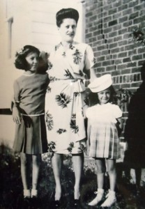 14 Panagiota Dorothy Iskos and her daughters, Margo and Jeanne, circa 1943