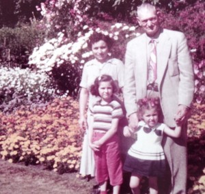 15 Caris family in Victoria, British Columbia (l-r) Georgia, Christina, Andrew and Katerina, 1958