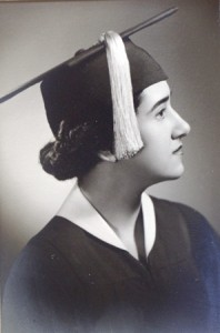 16 Eleni high school graduation, 1954