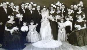 16 VickI and Jim Kangles wedding, 1952