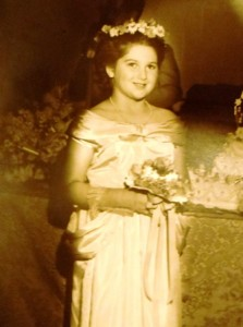 16 Voula as junior bridesmaid,mid 1950s