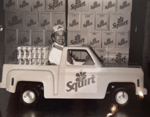 19 Steve in a miniature Squirt truck