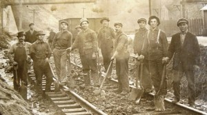 2 Antonio on the railroad, fourth from right, circa 1910