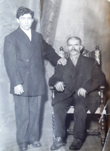 2 Mike Cokinakis and his father, Theodore, circa 19