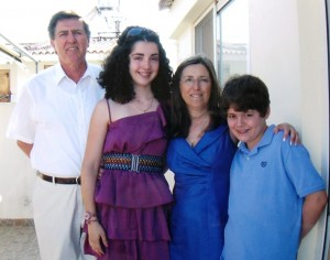21 Dimitri Siaterlis family in Greece (l-r) Dimitri, Deanna, Christina, Andrew, 2011
