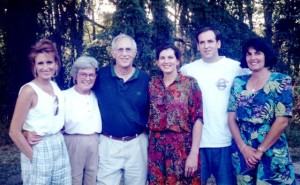 29 George Ballasiotes family (l-r) Katherine, Eleanora, George, Clara, Christopher, Emilie, circa 1990