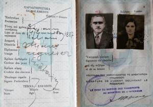 3 Demetrios and Irene passport, circa 1936