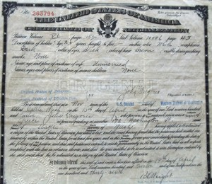4 John Gregores citizenship papers, 1912