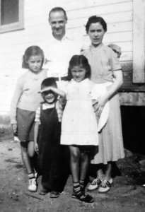 4 Molly, Gus, Pete, Kathy and Andromachi Barbas in 1941