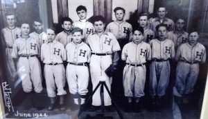 5 Hawthorne baseball team (Bill fifth from left), 1944