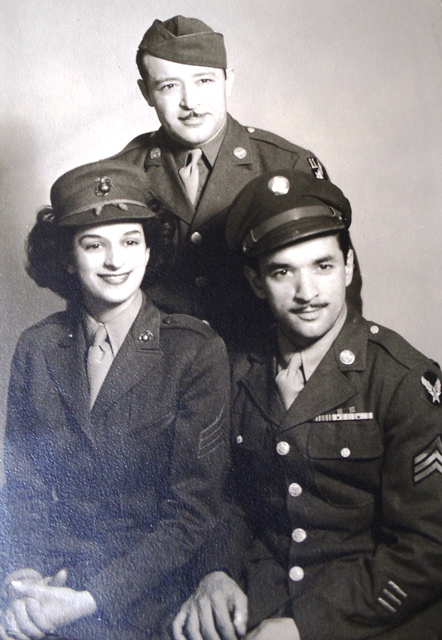 5 Joy with brothers Jim and John circa 1943
