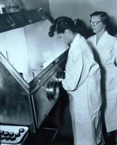 5 Molly at Work in City Lab, Seattle, circa 1960