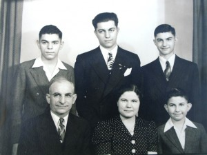5 Prekeges family; Dimitrios, George, John (rear); Peter, Paraskevi, Greg (front) circa 1940