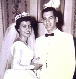 6 Nitsa and Nick at their wedding, 1954