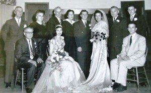 6 Wedding party, 1952