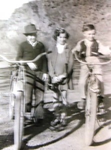 7 Dina and Pete with friend (at left), circa 1940