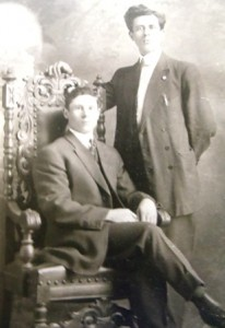 8 George Meseris and friend, circa 1925