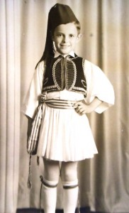 8 Pete in evzone (Greek Honor Guard) uniform, circa 1944