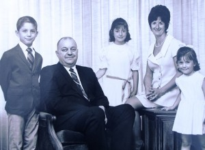8 Prekeges family; Peter, George, Penney, Connie, Maria, circa 1970
