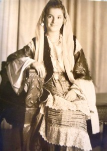9 Dina in traditional Greek costume, circa 1950
