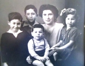 9 (l-r) Nck, Bob, Tony, Andonis , Chrisoula and Maria, circa 1946