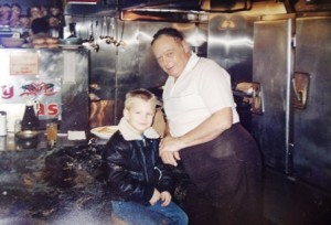 8 Pete with customer's grandson at Publix, 1972