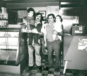 5 George, Demetre, George and Eleni at the Continental, 1985