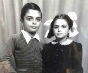 11 Costa with his sister Athena, 1950s
