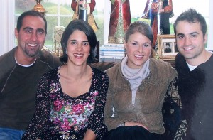 22 Fr. Evan, Stacy, Jessica Danny, circa 2008