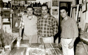 24 Costa with masters Niko and Yianni Karithopoulos in Greece, 1960s