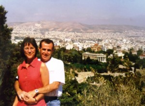 9  Thomas and Carol in Greece, 1996