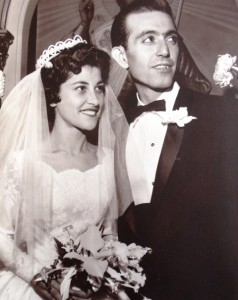 10 Mary and Pete wedding, 1959