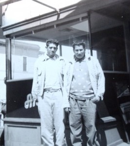 11 Basil and Jim at Anton's Restaurant, circa 1950