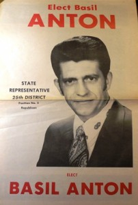13 Basil election poster, 1972