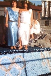 15 Eleni and Sofia on West Seattle Greek parade float, 1980s