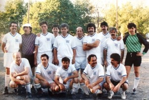 19 soccer team yiannis at center rear, 1980s