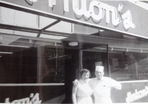 4 Mary and Tony, in front of Anton's Restaurant, 1950s