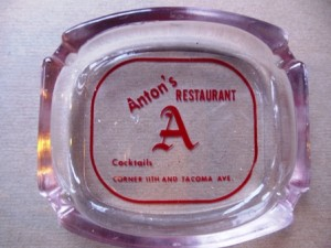 5 Anton's Cafe ashtray, from 1950s