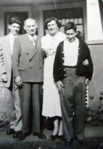 8 Basil, Tony, Mary and Jim Anton, 1950s