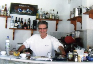 20 John at Evangelia snack bar on Paros, 2009