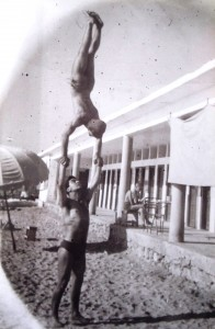 3 Acrobats John and friend Alekos, circa 1957
