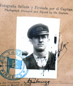 7 Athanasio's Argentinian captain's certificate, 1936