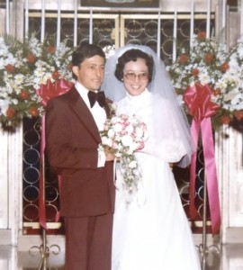 12  Nick and Holly wedding, 1975