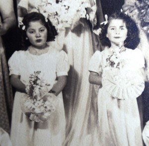 14 Katie and Cleo Dallas as flower girls, circa 1944