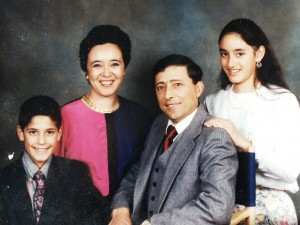 15 Poulias family (l-r) Evan, Holly, Nick and Joann, 1989